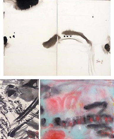 untitled [diptych] (+ 2 others; 3 works) by t'ang haywen